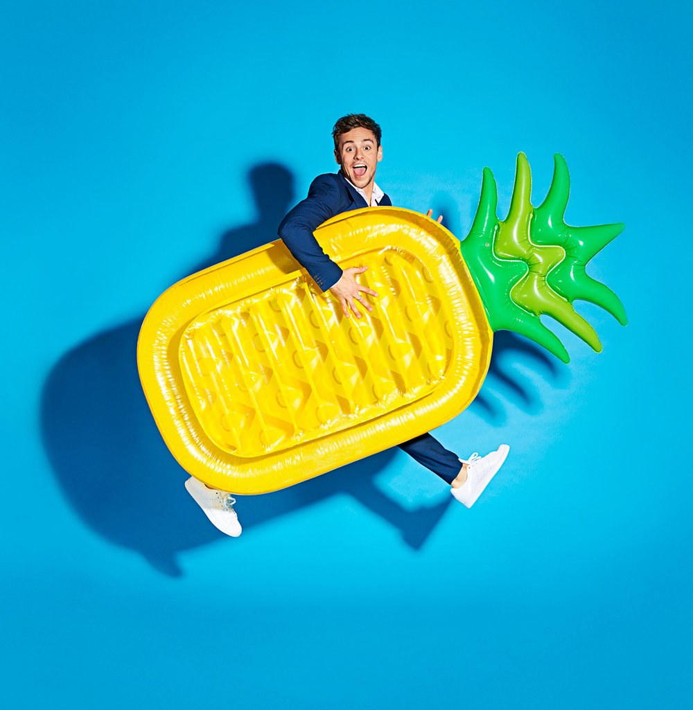 Simon Webb - Tom Daley-Pineapple lilo