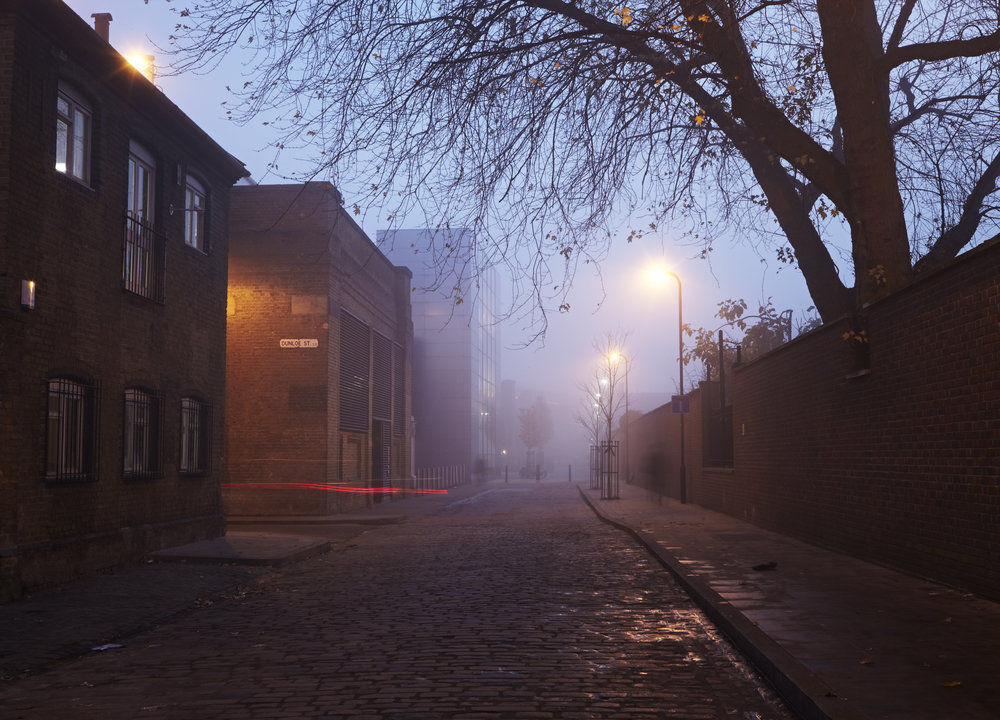 Grant Smith - Shoredich, cobbled street