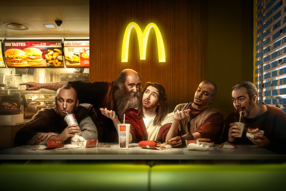 Chris Clor last Supper in MacDonalds