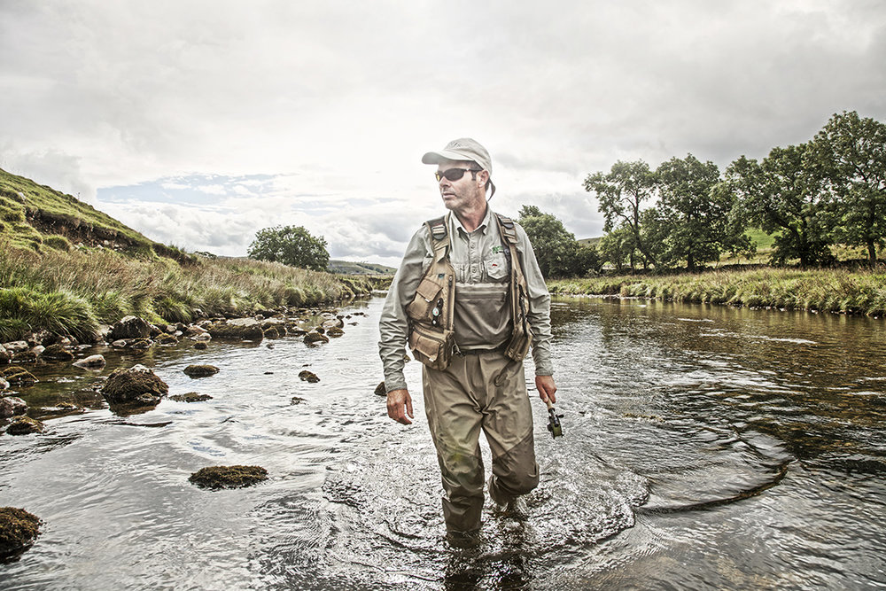 Dan Prince - fishing in the stream in the Dales
