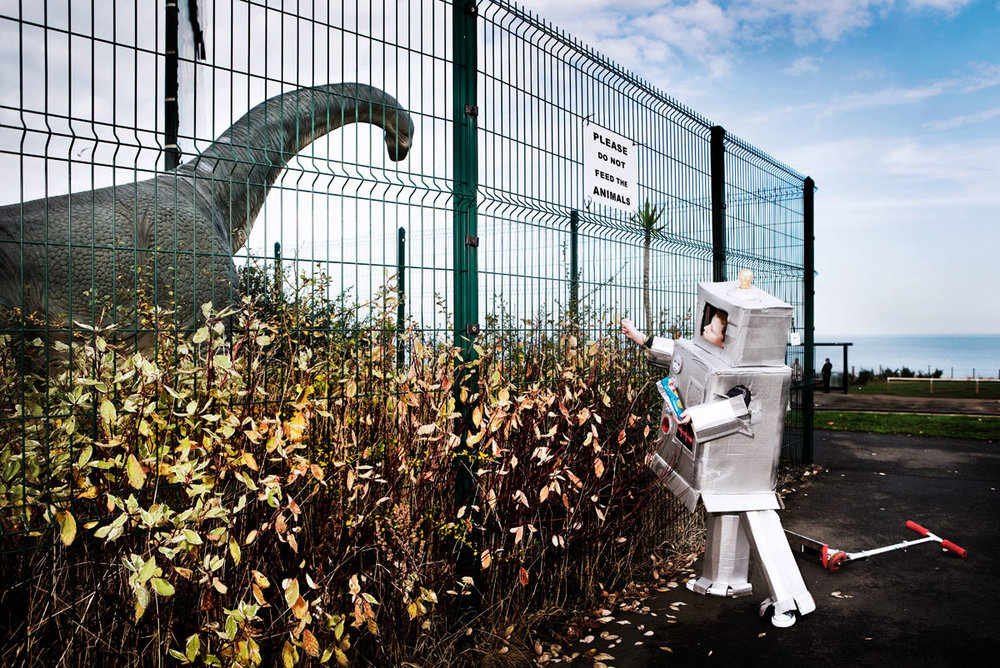 Dan Prince -Robot with Dinosaur