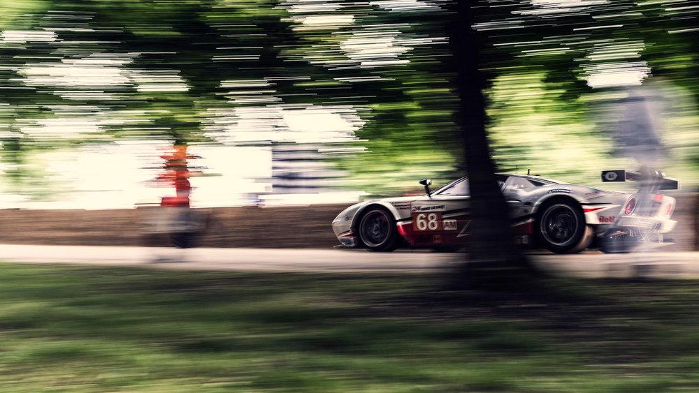 Nigel Harniman moving car Ford t40 goodwood