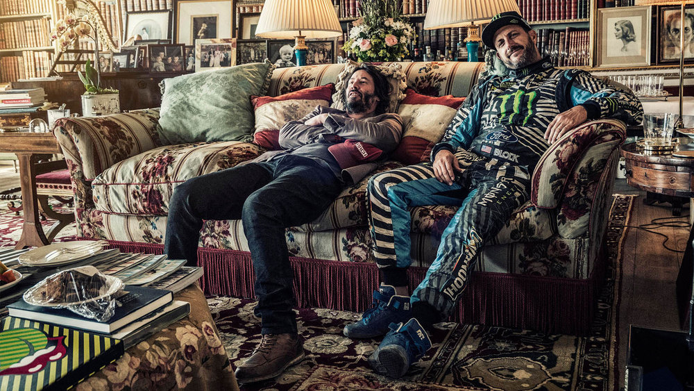 Nigel Harniman Keanu Reeves Ken Block Goodwood library