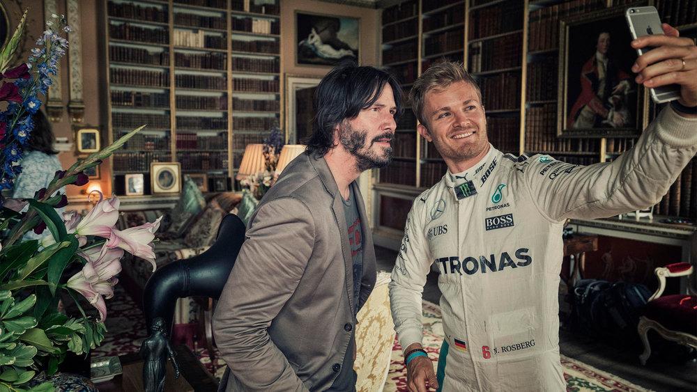 Nigel Harniman Nico Rosberg Keanu Reeves selfie