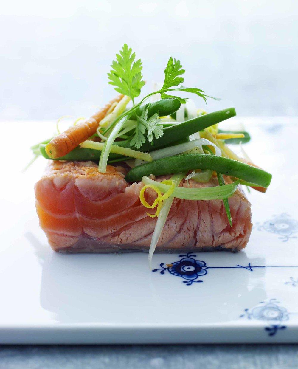 Lars Ranek - salmon with green beans dish