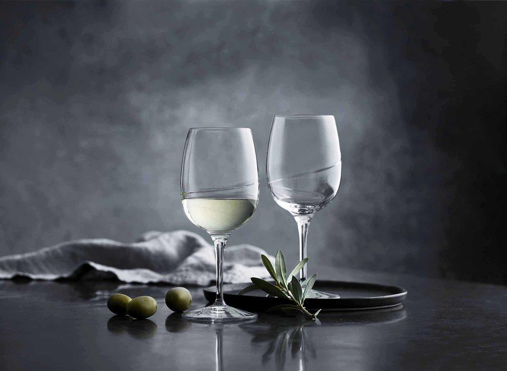 Lars Ranek - two glasses of white wine set