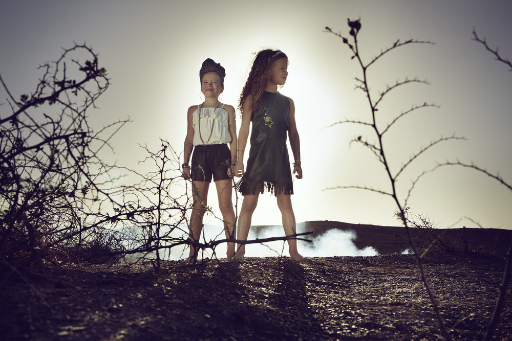Ilve Little two girls in landscape