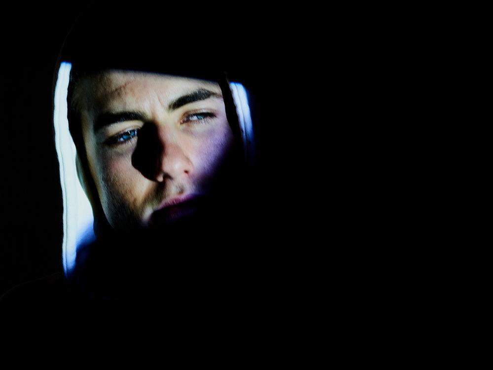 Noel McLaughlin - man in hoodie