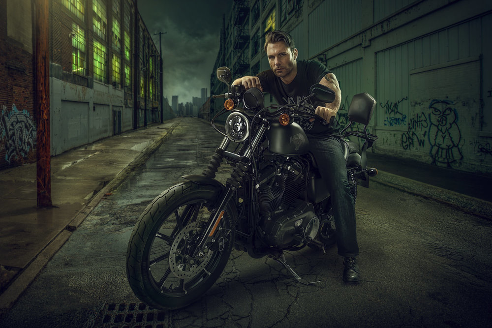 Chris Clor - guy on Harley Davidson