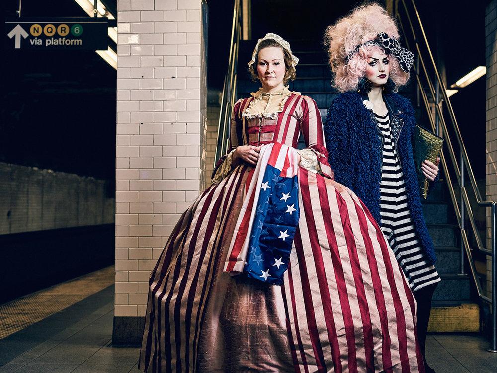 Matthew Joseph - women dressed for party. USA