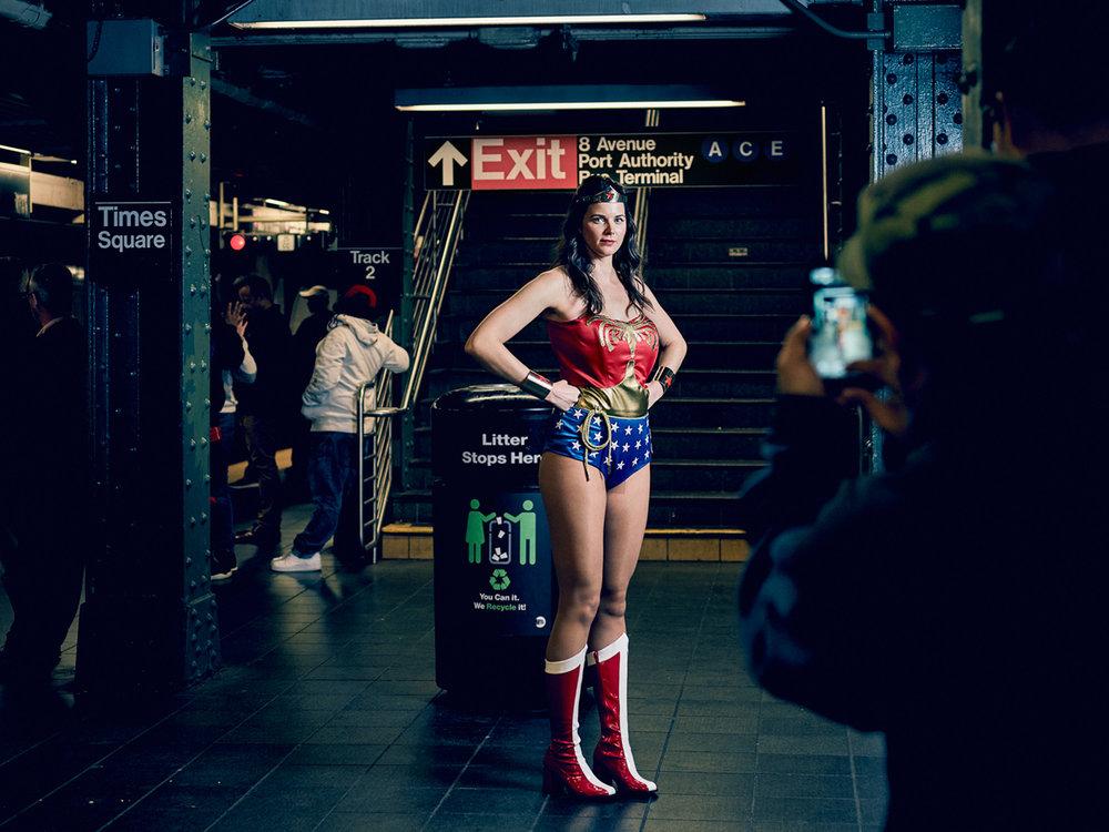 Matthew Joseph - Woman in Super Women fancy dress