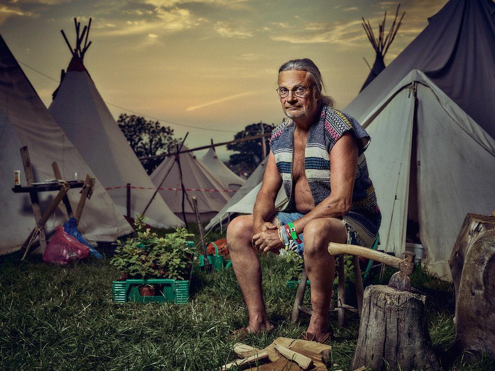 Mathew Joseph - man with Wig Wam tents