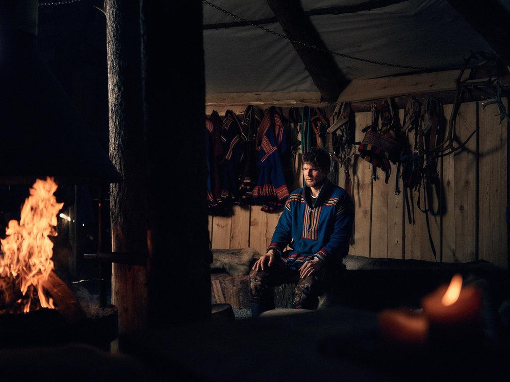 Matthew Joseph - Guy in shed by fire