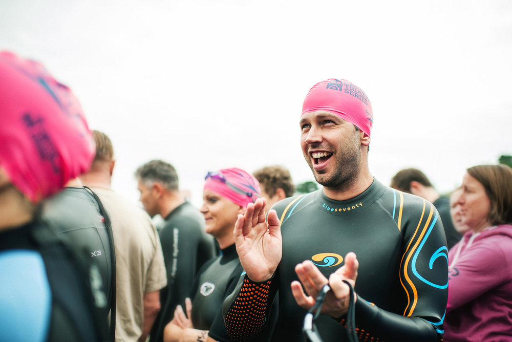 Matthew Joseph - swimmers preparing for swim