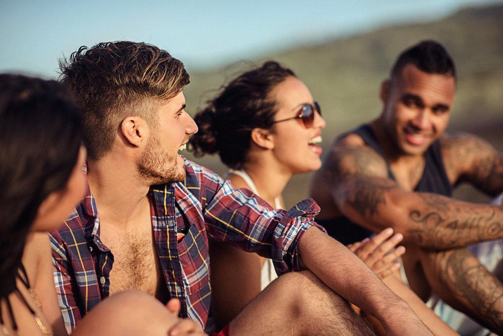 Matthew Joseph - guys relaxing at beach