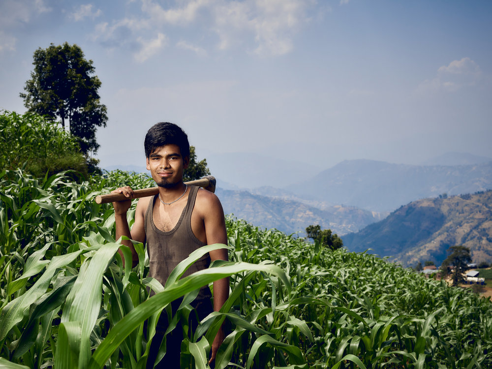 Matthew Joseph - guy working in plantation