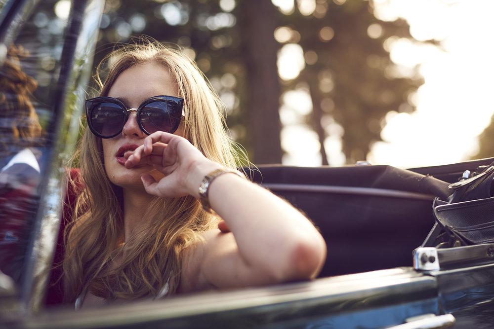 Matthew Joseph - girl in sunlasses in car