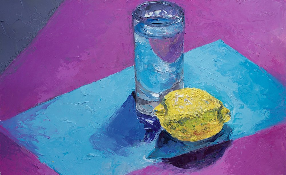 Glass and Lemon Still Life Alice Straker.jpeg