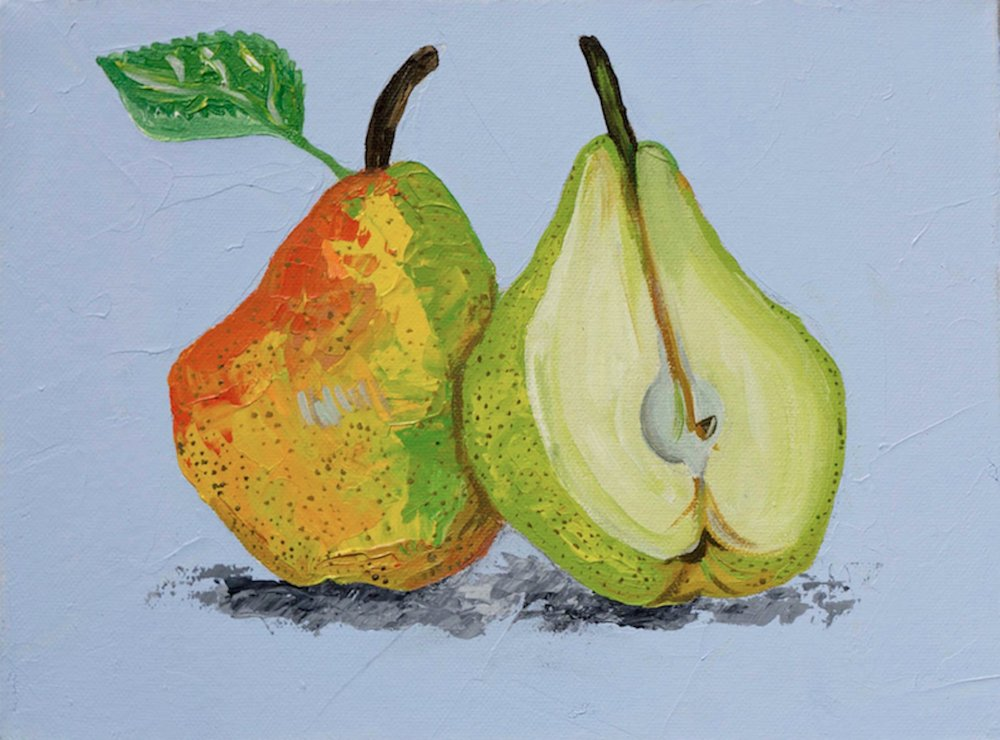 Pears on sky blue Alice Straker.jpg