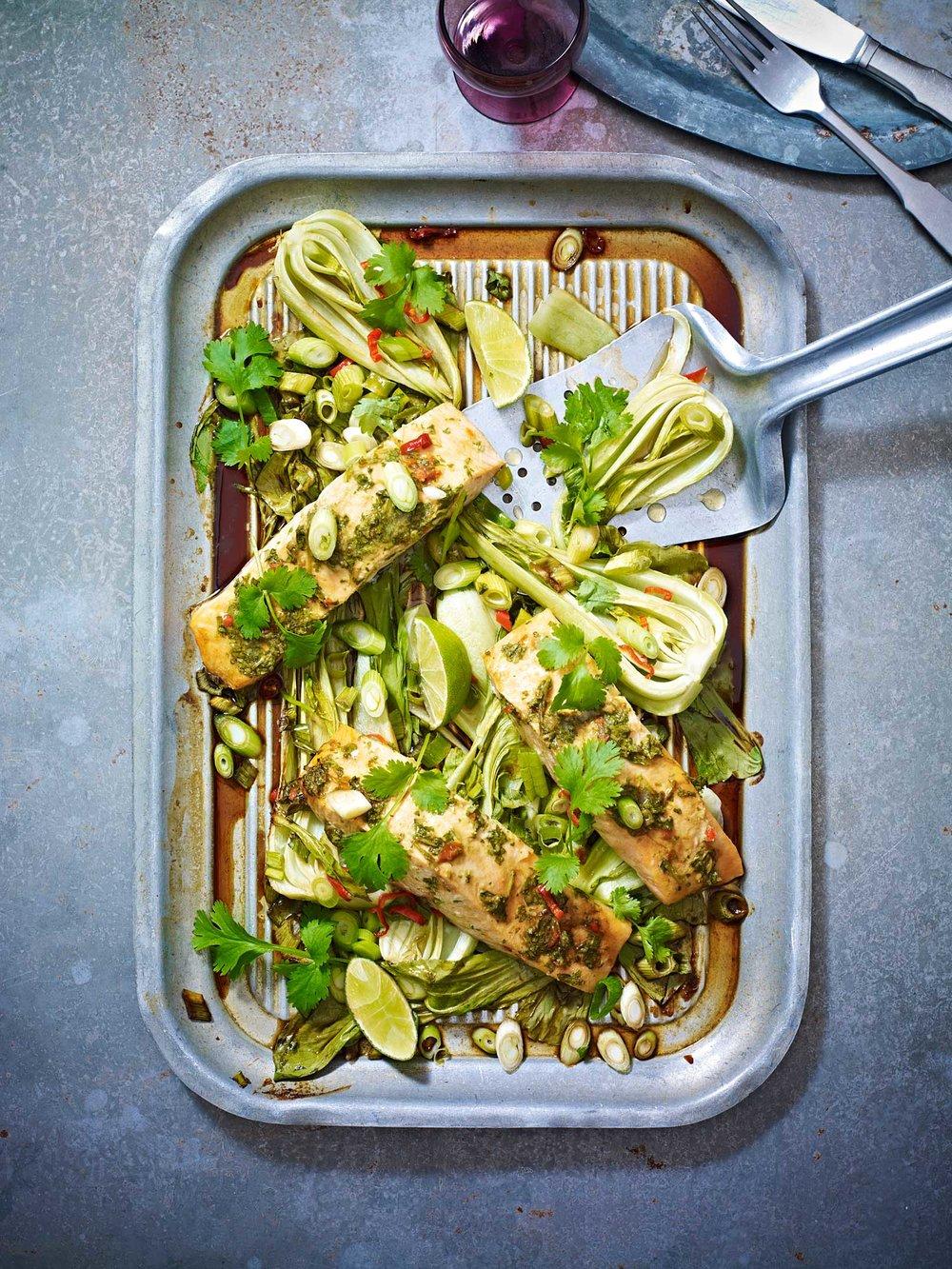 Stuart West - fish with veg