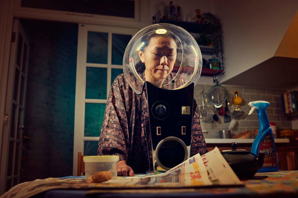 Dee Ramadan lady in glass bubble