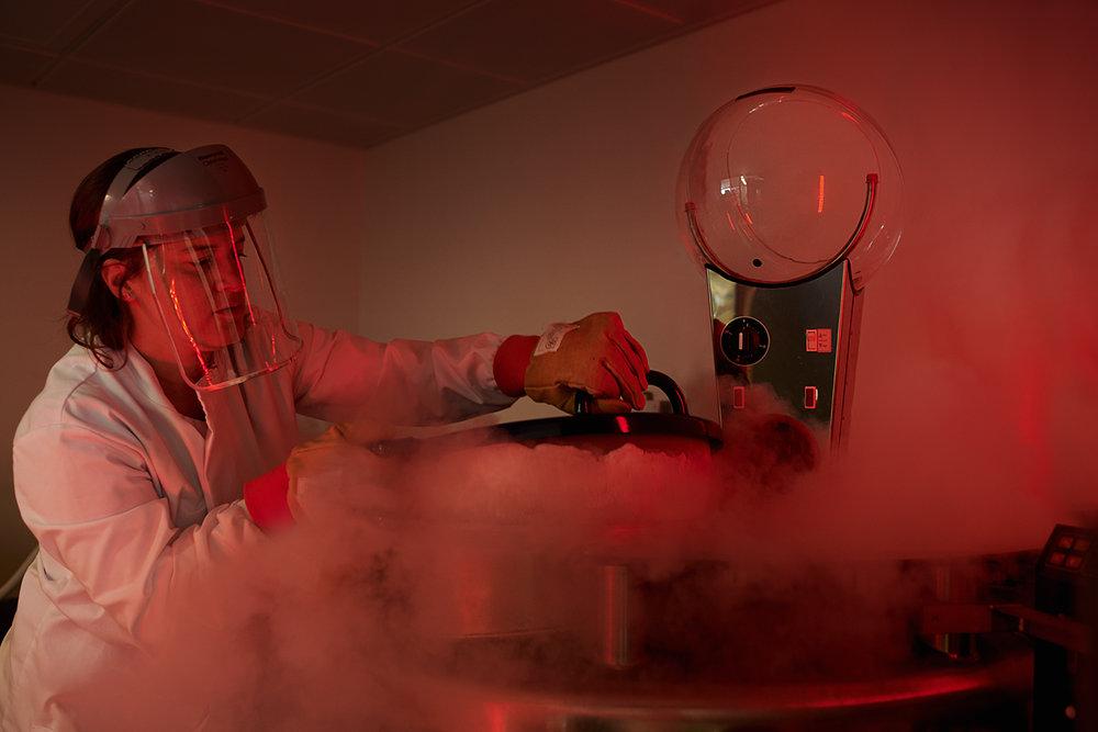 Dee Ramadan - device in science lab