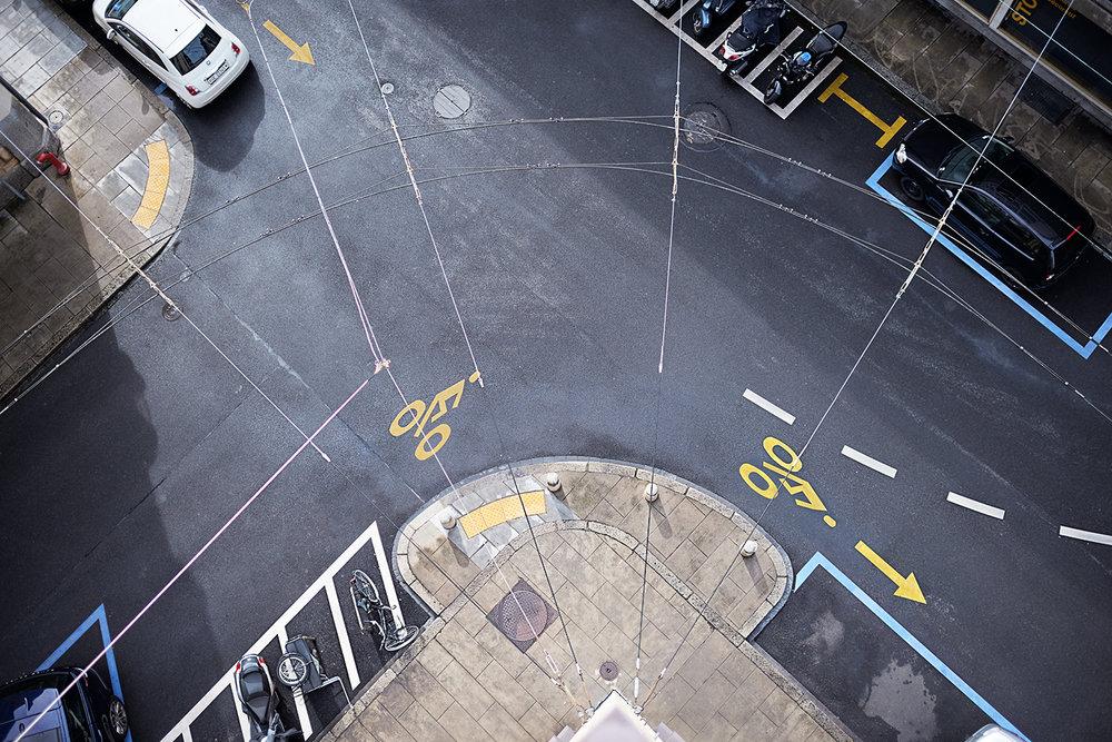 Dee Ramadan - ariel view of road junction