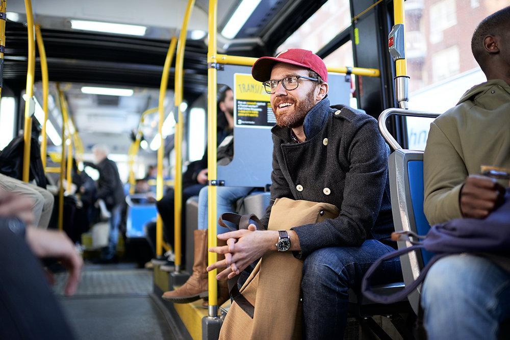 Dee Ramadan - guys on tram