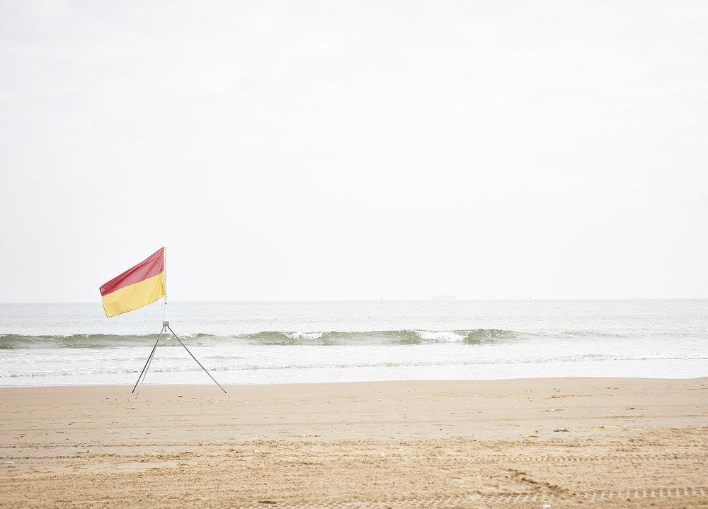 John Donogue - flag on beach