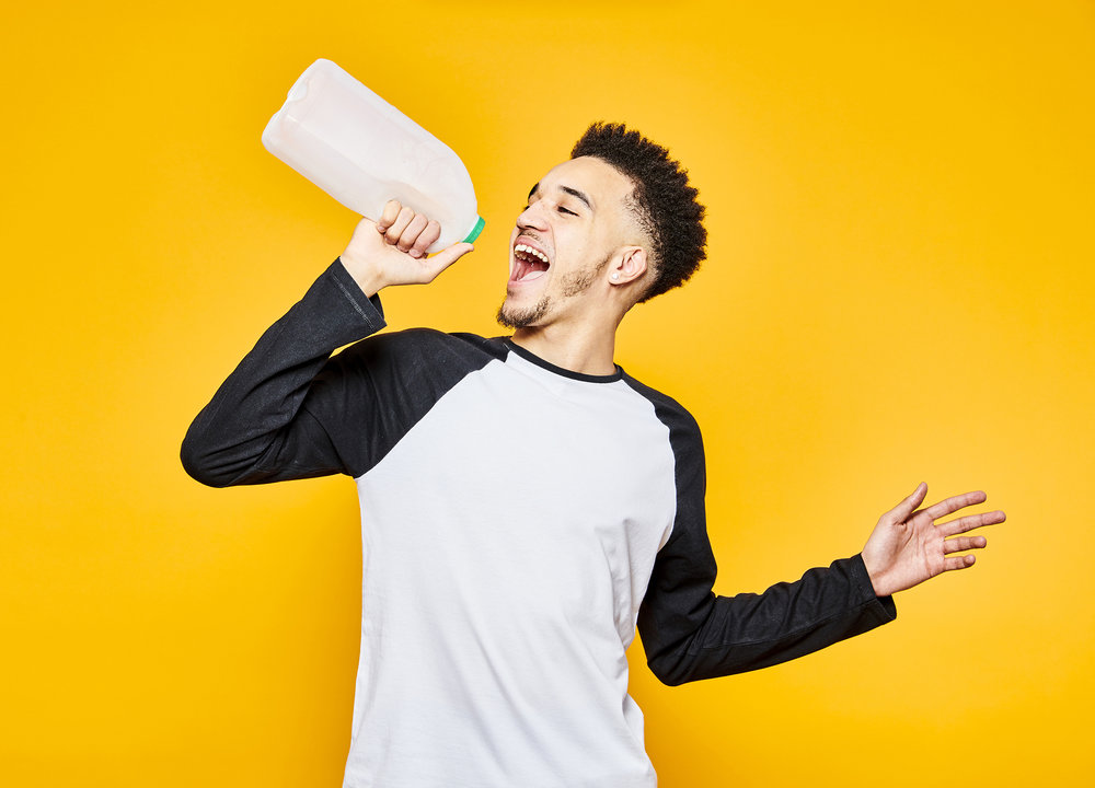 John Donoghue - guy with milk carton