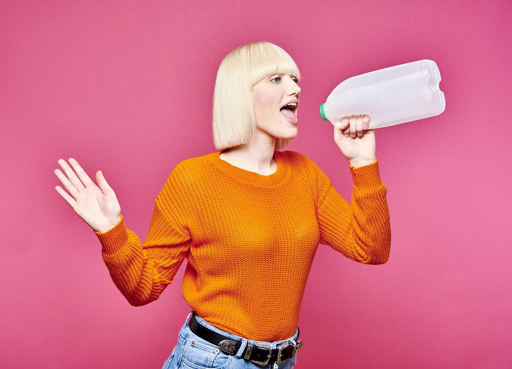 John Donoghue - girl with milk carton