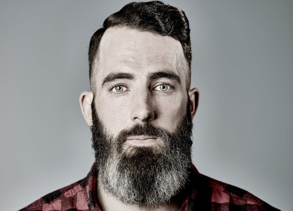 John Donoghue - portrait of man with beard