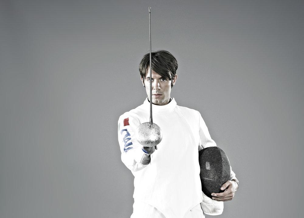 John Donoghue - portrait of male fencer