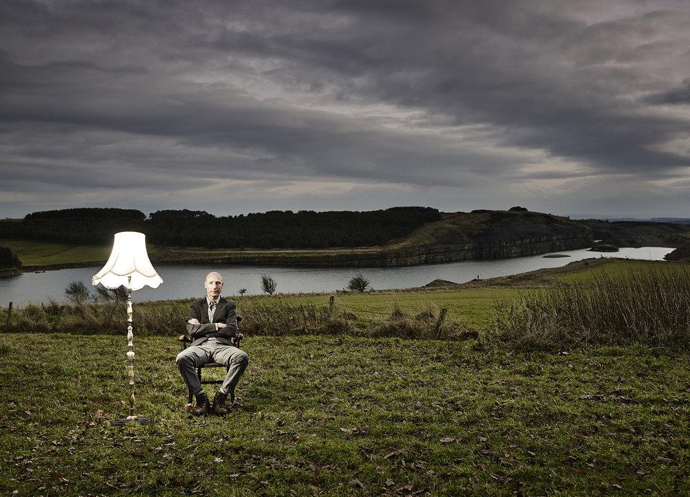 John Donogue - artist in field