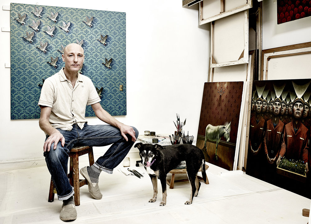 John Donogue - artist in studio