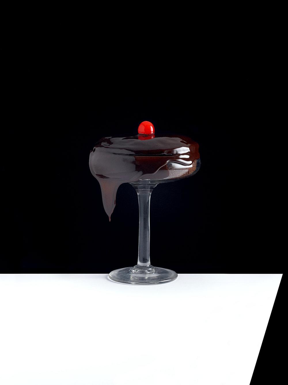 Kevin Mallett chocolate dessert with cherry