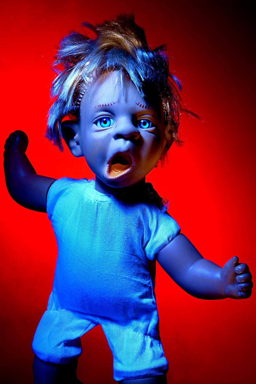 kevin Mallett - blue doll