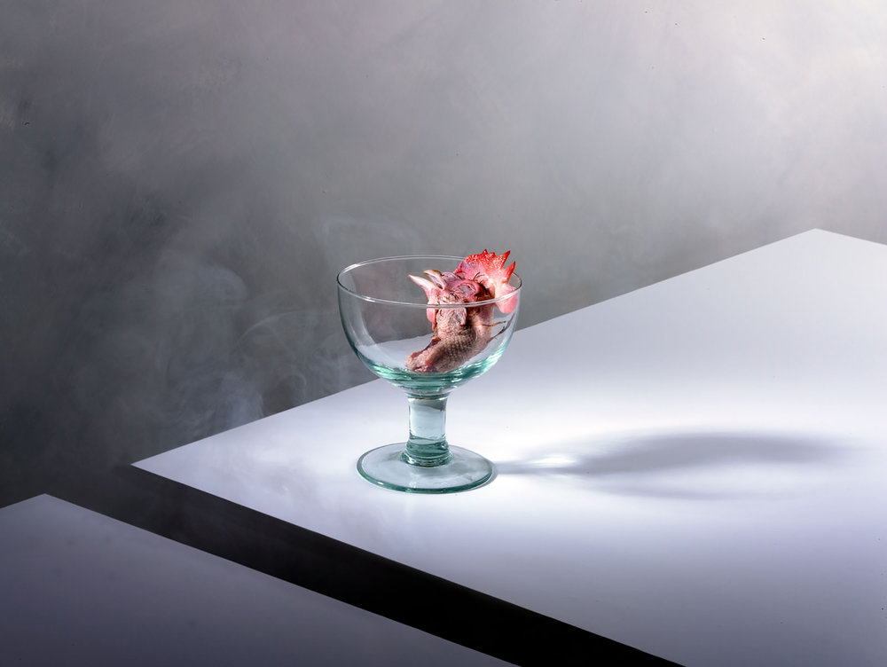 Kevin Mallett - chicken head in glass