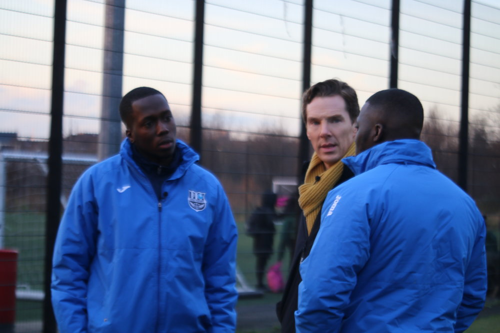 BenedictCumberbatch visits one of our football sessions