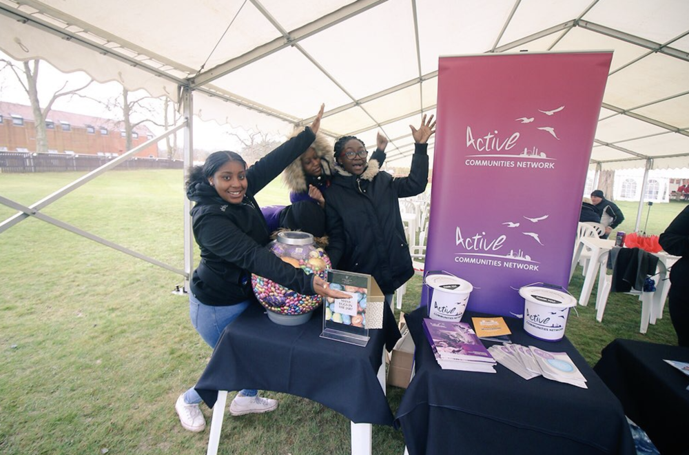 Social Action group - Girlhood Active help fundraise at Lingfield Park