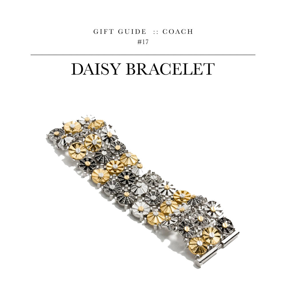 Daisy Bracelet  via Coach  //  A solid option if you're set on getting a piece of jewelry.