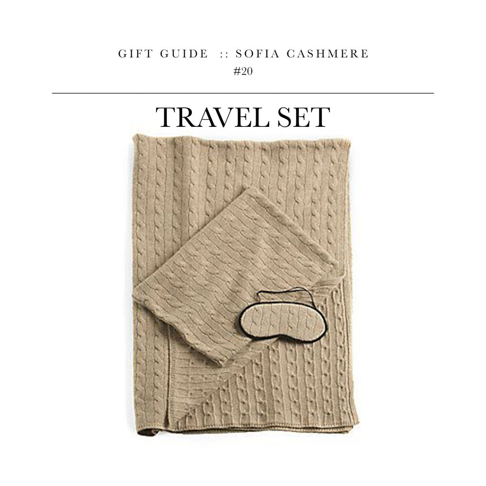 Travel Set  via Sofia Cashmere // Give the gift of cashmere for the one who goes to the airport more than the grocery store.