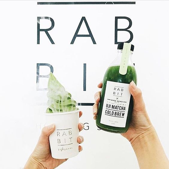 Rabbit matcha softserve and cold brew