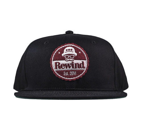 Rewind x Untitled Snapback Black