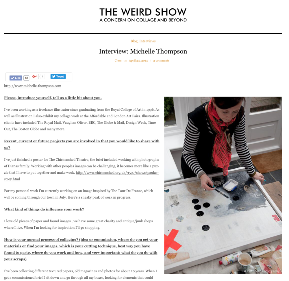 The Weird Show - click on the image to go to the website.