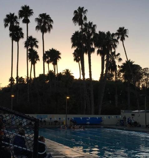 サンタバーバラでの練習風景