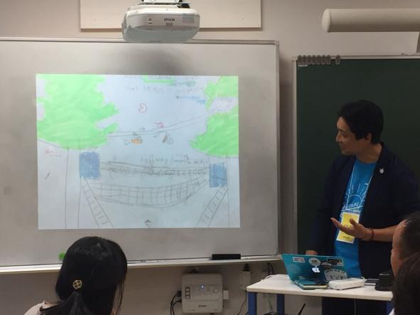 生徒さんが描いた理想の学校の絵の紹介