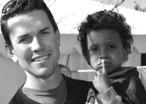 Matthew serves World Orphans as our Projects Manager over Africa.  He is pictured here with Kaleb, his adopted son of two years.  He and his wife Amelia have four other children and are currently in the process of their second international adoption.