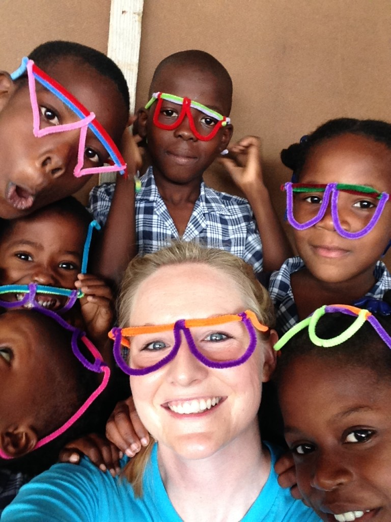 My first trip to Haiti and the kids could not stop giggling about their pipe cleaner glasses!