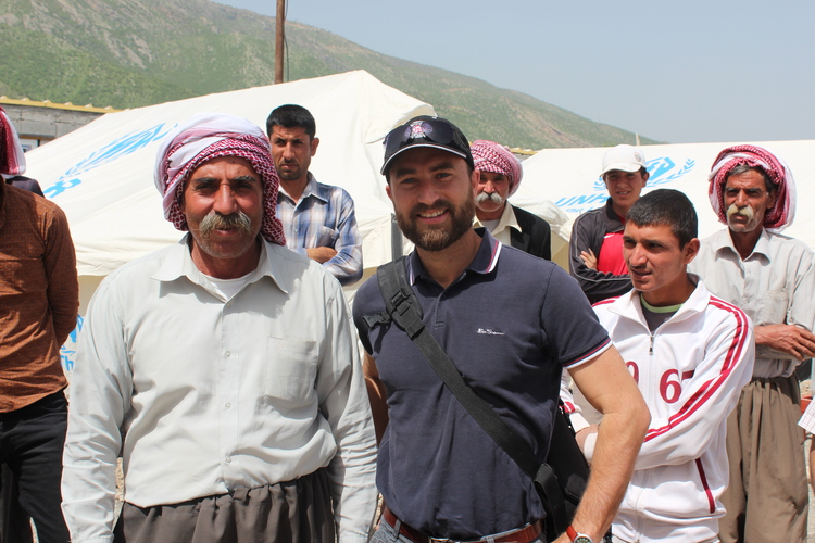 Opening Day at our new Refugee Camp for 40+ Yezidi families.
